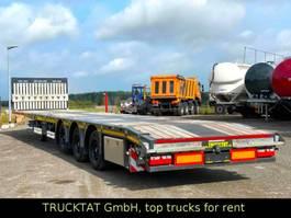 flatbed semi trailer Kaessbohrer Mega Teleskopierbar, Verschiebetisch, MIETEN? 2019