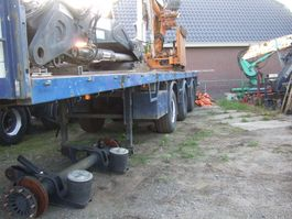 flatbed semi trailer Pacton kraanoplegger