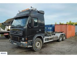 container truck Volvo FM12 6x2 hook lift 2001