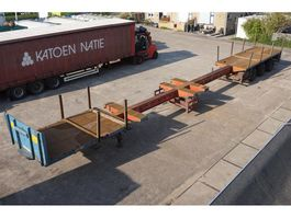 flatbed semi trailer Broshuis Dubbele uitschuiver 23.85m / Dubbele schuiftafel 1994