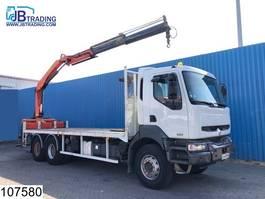 platform truck Renault Kerax 370 6x4, Manual, Palfinger crane, Airco, Steel suspension, pallet ... 2005