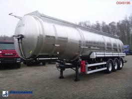 tank semi trailer semi trailer Magyar Fuel tank inox 39.5 m3 / 9 comp 1994