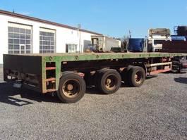 flatbed semi trailer Broshuis 3 achs AOU-48  Semi Tele bis 28,75 m hydrl steering LENKACHSEN GG:: 52500 kg 1995