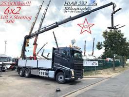 platform truck Volvo FH 420 + CRANE HIAB X-HIPRO 232 E-5 (23Tm - 5x Hydr) - I-SHIFT - 25.000k... 2018