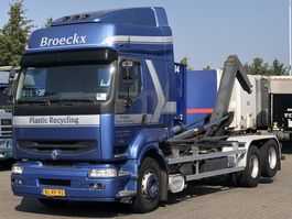 container truck Renault PREMIUM 420 DCI MANUAL 10 TYRES HAAKARM 2001