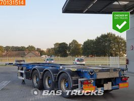 container chassis semi trailer Lag 0-3-39 02 3 axles ADR 1x 20 ft 1x30 ft 2004
