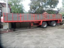 Plattformauflieger Floor Steentrailer Steenoplegger met 11 ton kraan 1981
