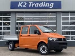 pickup lcv Volkswagen Transporter 2.0 TDI L2H1 DC Airco 6 persoon pick up open laadbak Dubbel ... 2015