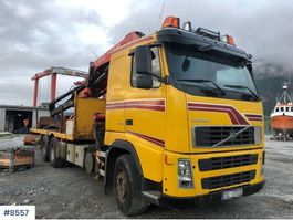 crane truck Volvo FH12 6x2 flatbed truck with Fassi 45 tons 2005