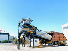 concrete batching plant TURBOMIX 100 MOBILE CONCRETE PLANT 100 M3/H READY IN STOCK Mobile 2020