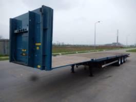 flatbed semi trailer Groenewegen 3 As MEGA VOLUME Transport 3 As Oplegger - Langzaam Verkeer Open, OH-89-KY 2004
