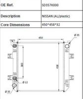 cooling equipment part Nissan Heftruck radiateur (AL/PLASTIC)