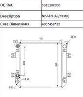 cooling equipment part Nissan (AL/PLASTIC) radiateur