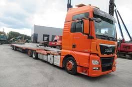 car transporter truck MAN TGX 26.440 6x2 oprijwagen  en  Polkon TS-802 2014