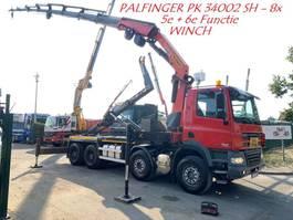 container truck DAF CF 85.510 - 8x4 - CRANE PALFINGER 34002 (8x) WINCH / ROTATOR - HAAK/KRAA... 2011