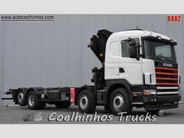 crane truck Scania 144G 530 V8 2001