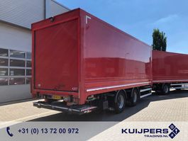 remorque à box fermé Van Hool 2 axle BPW Drum / Box / Loadlift 2000 kg / COMBI 2012