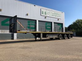 flatbed semi trailer Nooteboom 3x steering axle, extendable! 2000