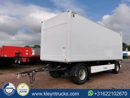 closed box trailer Krone 2 AXLES DRYLINER back doors 2013
