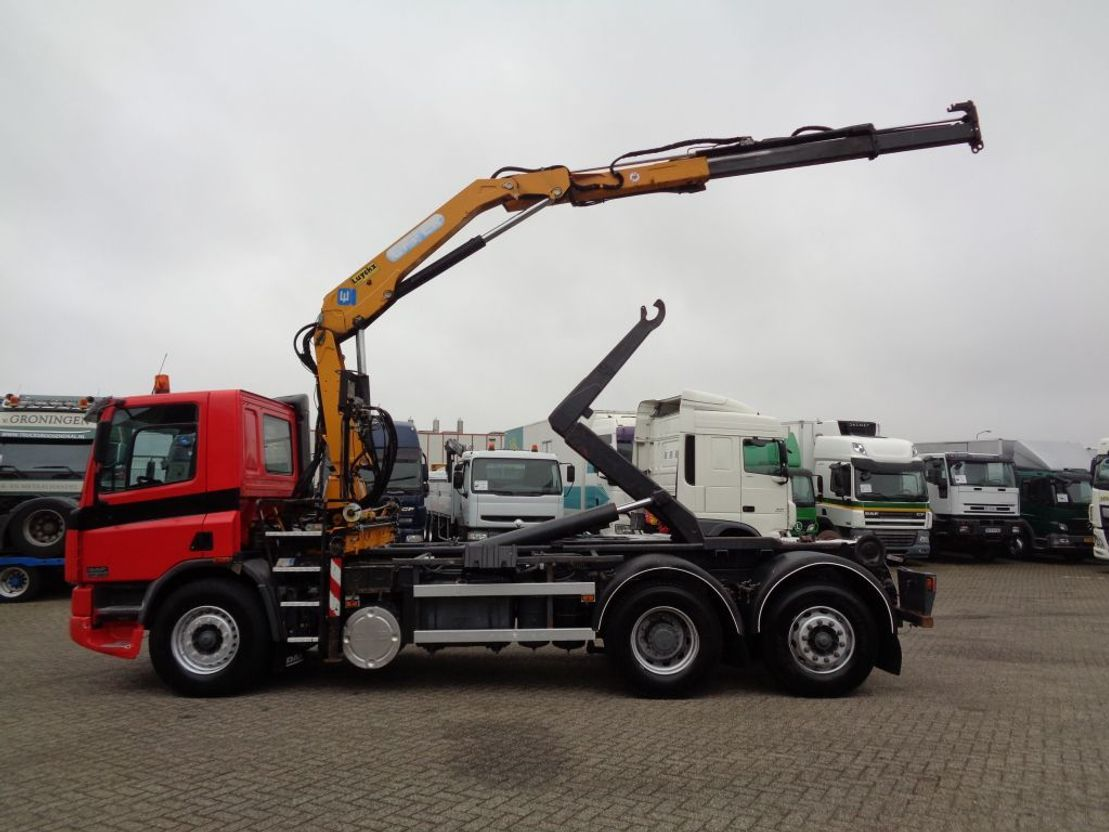 container truck DAF CF 75 320 + Manual + Euro 2 + Pto + Effer Crane + Container system 1998