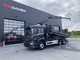tipper truck > 7.5 t Mercedes-Benz Arocs 2643 6x4 Kipper / Kraan  Euro 6 2018