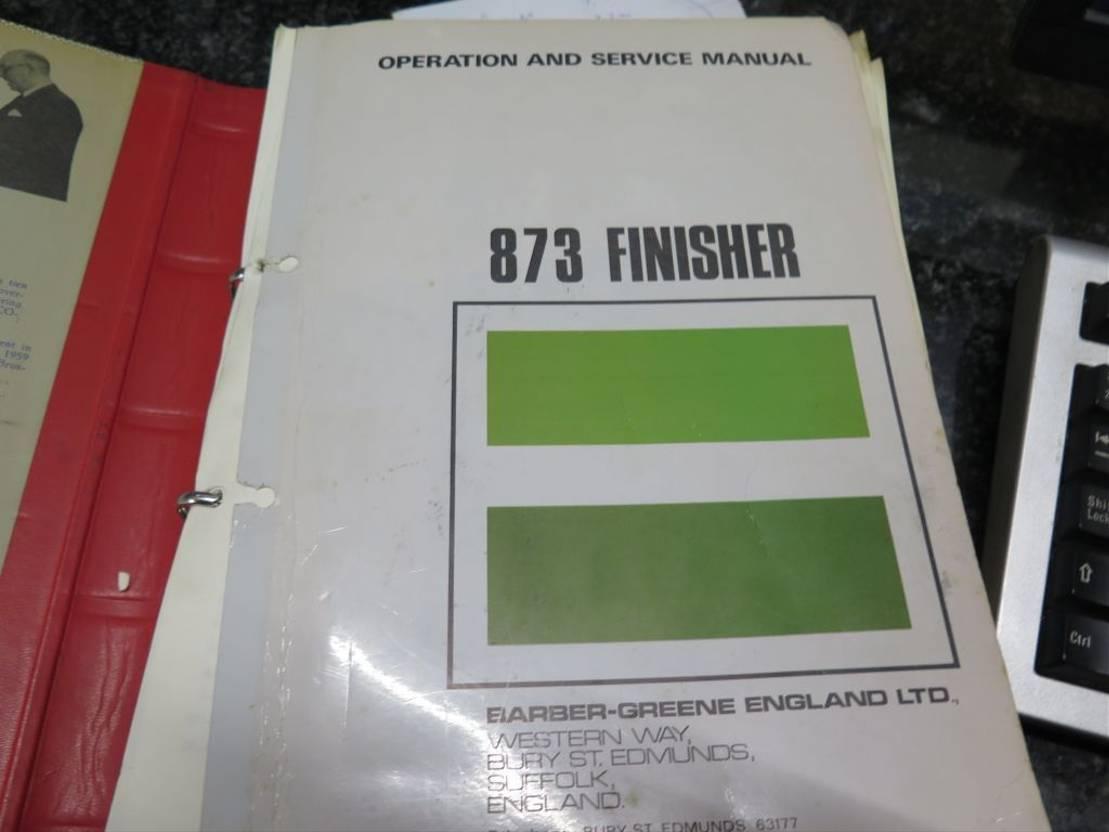 Asphaltfertiger-Raupe Diversen Barber-Greene 873 Finisher 1970