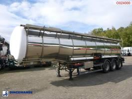 Tankauflieger Hobur Chemical tank inox 32.6 m3 / 1 comp 1996