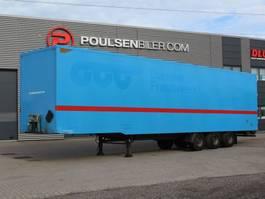 closed box semi trailer Pacton 3-axle boxtrailer with double-stock 2009