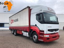 closed box truck Renault Premium 385 6x2 10 TYRES (Manual pomp) ** 2 CULASSE ** 1998
