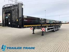 flatbed semi trailer KAESSBOHRER SPS Alusides, containerlocks 2020
