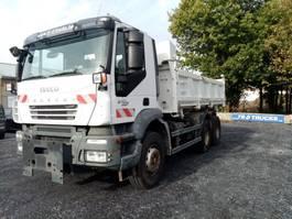 tipper truck > 7.5 t Iveco Trakker 410 6x4 meiller bi benne/2-way meiller tipper->125 000KMS 2008