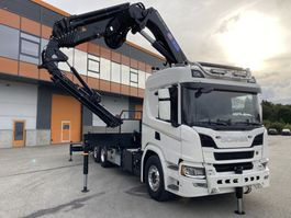 crane truck Scania P410+HMF5020K7+JIB FJ600K4+1 2020