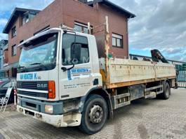 chassis cab truck DAF CF 75 240 ATi 4x2 Pritsche Hiab Kran 102 Euro 2