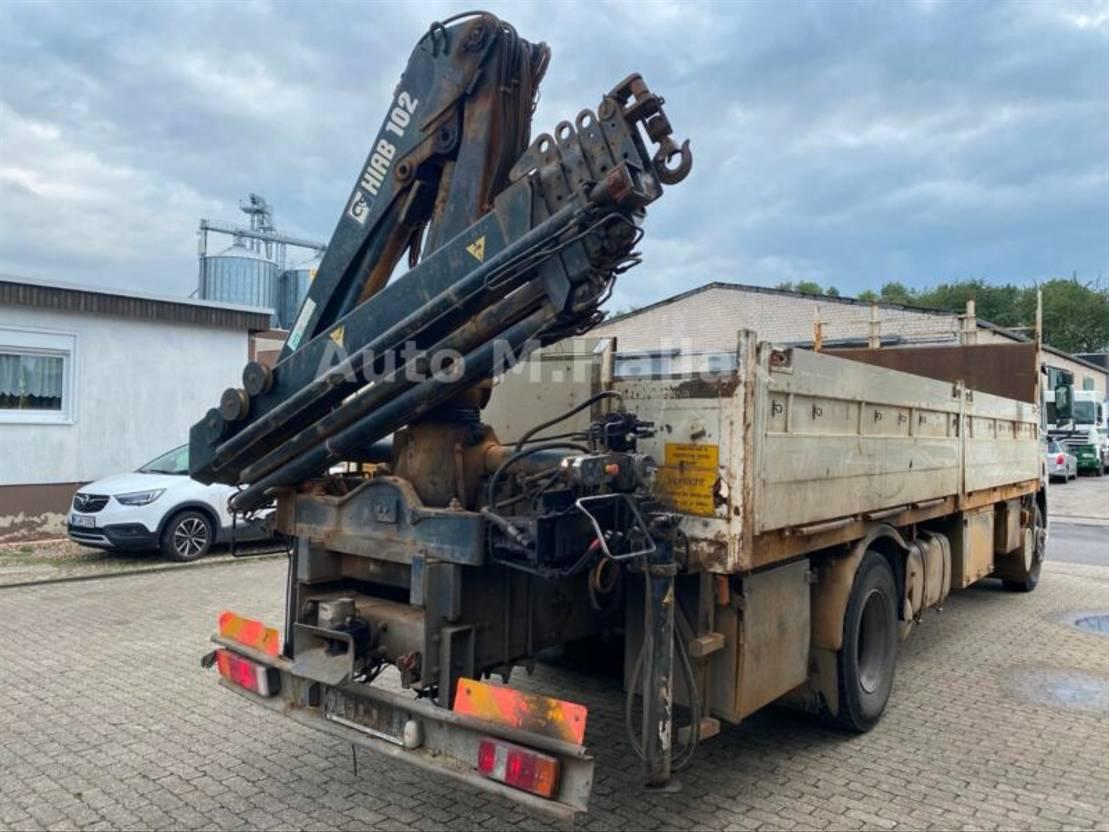 Fahrgestell LKW DAF CF 75 240 ATi 4x2 Pritsche Hiab Kran 102 Euro 2