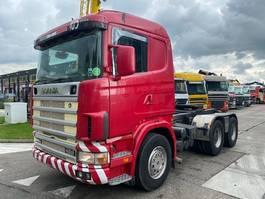 cab over engine Scania 144G 460 6X4 MANUAL FULL STEEL EURO 2 + RETARDER 2000