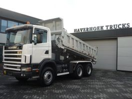 tipper truck > 7.5 t Scania 124C 420 6x4 EMPL 2 SIDE STEEL TIPPER 2003