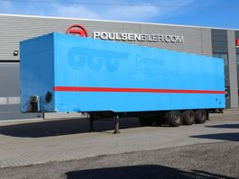 closed box semi trailer Pacton 3-axle boxtrailer with double-stock 2010