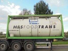 tank container Van Hool 25.250 L Tank / Food-Lebensmittel / 3 Compart. / 9x In Stock 1998