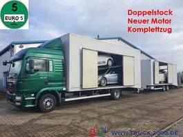 car transporter truck MAN TGM 15.290 Doppelstock Geschlossen 3 Fahrzeuge 2013