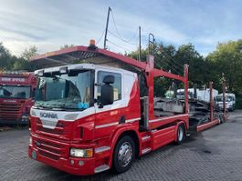 car transporter truck Scania P420 4X2 RETARDER EURO 5 + ROLFO 2 AS AANHANGWAGEN 2012