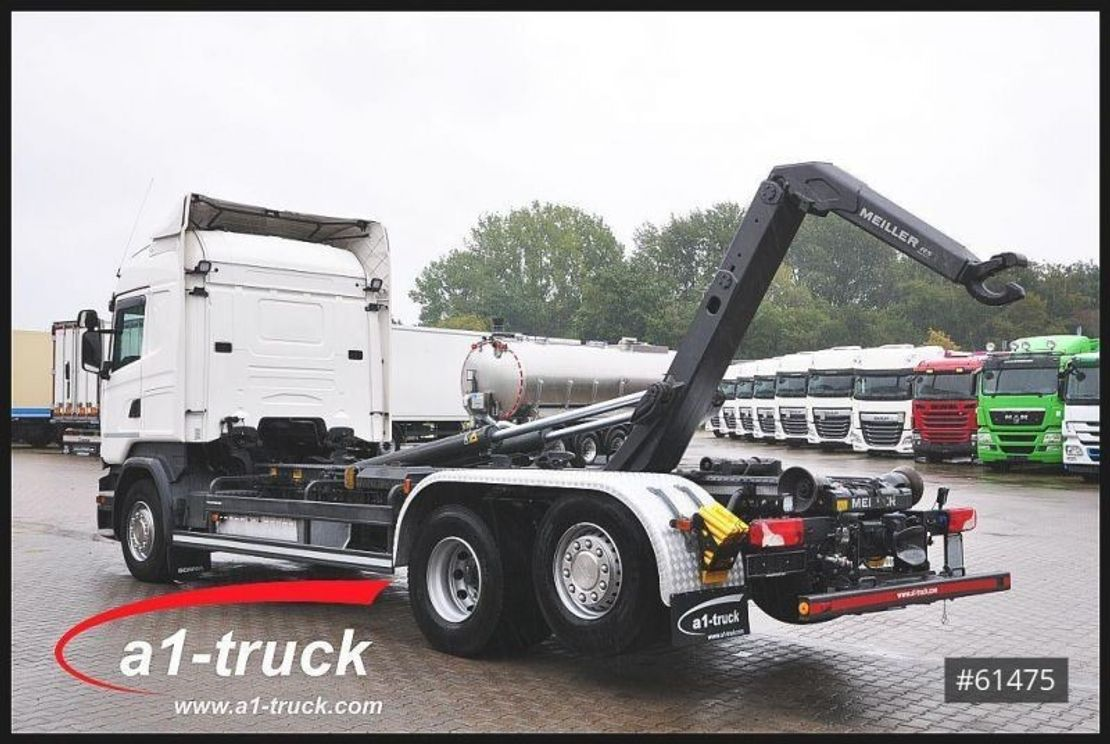 container truck Scania R450 6X2  Meiller RS21.70 Lenk/Lift 2017