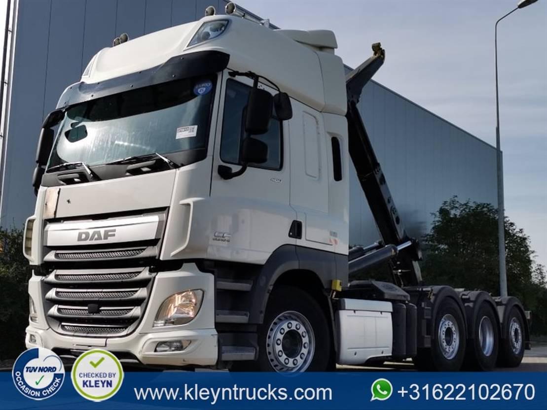 container truck DAF CF 460 8x2 tridem e6 30t 2014