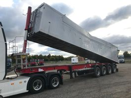 tipper semi trailer Langendorf 61m3 tiptrailer DAMAGED 2018