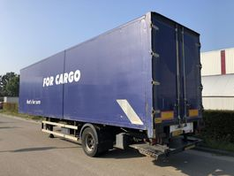 closed box semi trailer Groenewegen DRO-12-10 Closed Box City + Taillift 2000