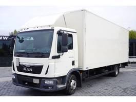 closed box truck > 7.5 t MAN TGL 12.220 , E6 , 4X2 , container 7m , lift 1500kg 2016