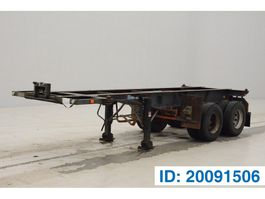 Container-Fahrgestell Auflieger Flandria 20 ft skelet 1982