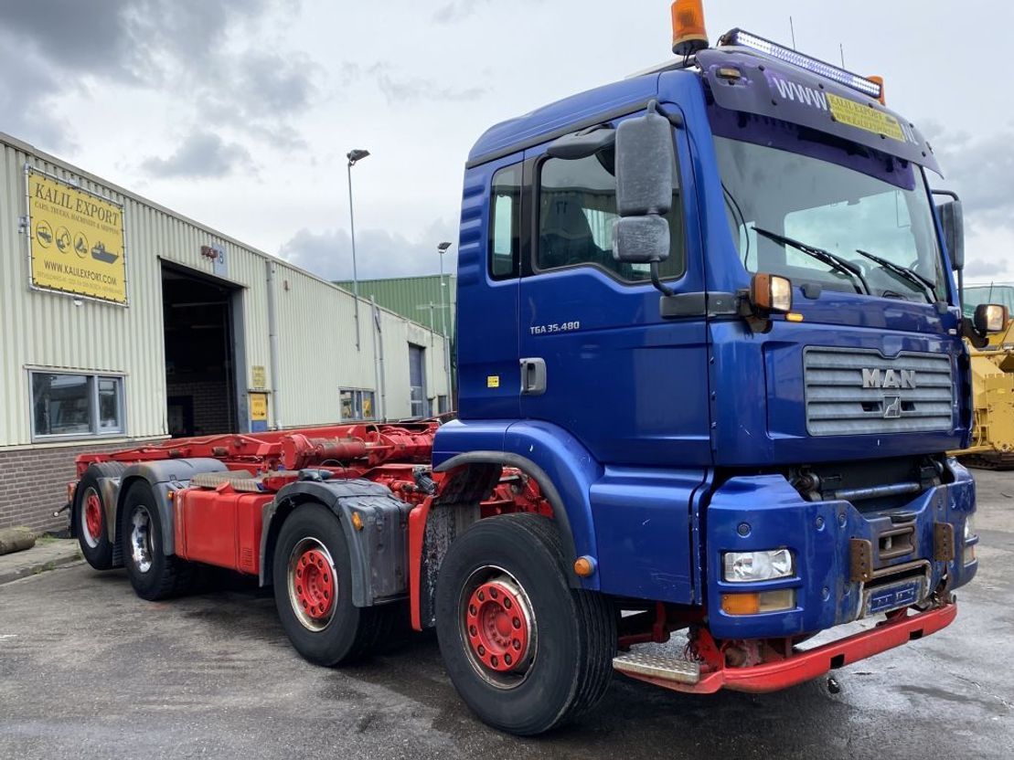 container truck MAN TGA 35.480 8x2 Manuel Gearbox Container Cable Good Condition 2004
