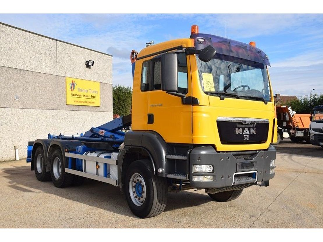 container truck MAN TGS 26.400 6X4 CONTAINER SYSTEEM- CONTAINER SISTEEM- CONTAINER HAAKSYSTEEM- SYSTEME... 2010