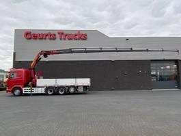 crane truck Scania R520-V8 8X4 TRIDEM + PALFINGER KRAAN/KRAN/CRANE/GRUA 2015