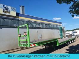 lowloader semi trailer Broshuis 4-Achs SEMI Tieflader extendable 58 to 1991